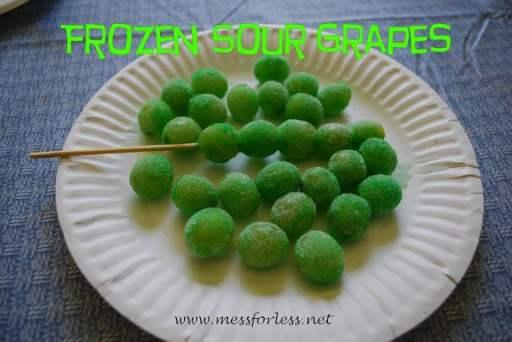 frozen sour grapes, Mess for Less