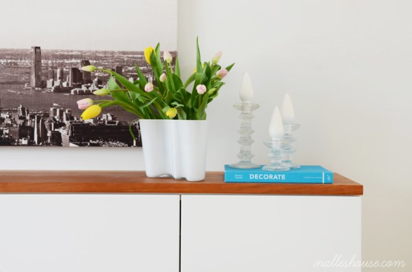 how to decorate a modern floating sideboard