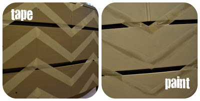 how to paint and tape chevron stripes