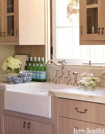 modern oak kitchen cabinets, House Beautiful