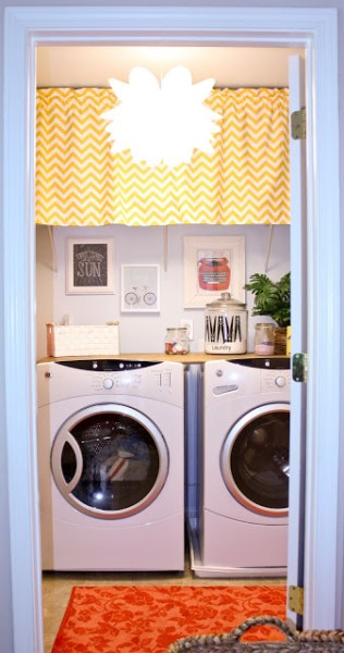 small laundry room makeover, Hoot Designs on Shanty2Chic