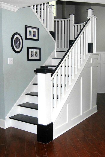 Wooden Stair Remodel Classic Style Home On Remodelaholic