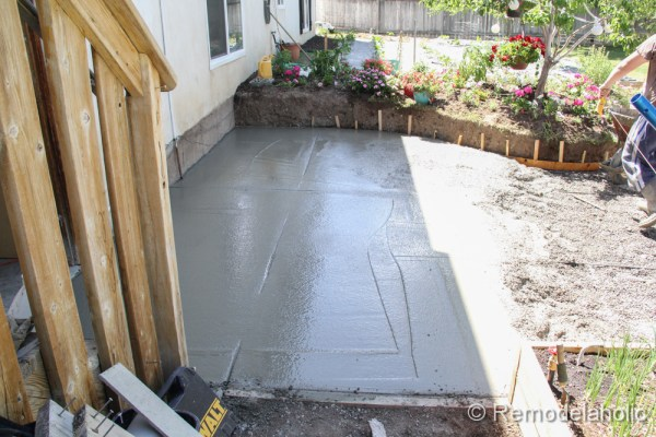 DIY concrete patio part two-8-2