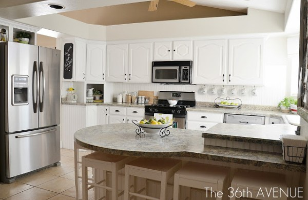 The 36th Avenue, white kitchen remodel