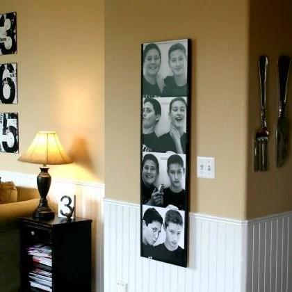 Wall Art DIY Photo booth photo strip, Kim Demmon on Spoonful
