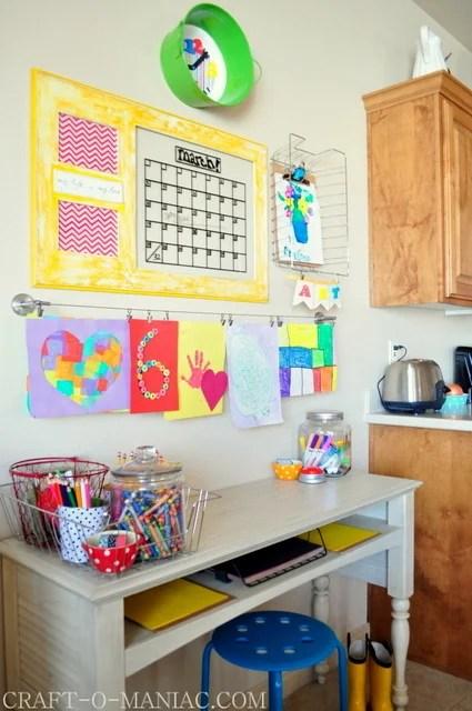 art and homework station, CraftOManiac