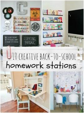 10 creative back-to-school homework stations, Remodelaholic.com