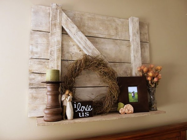 barn door shelf, Lovely Little Snippets