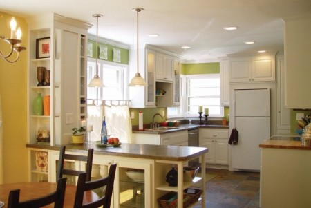 DIY kitchen remodeling and updates. best kitchen remodel ideas -- gutted kitchen renovation with new lighting, Balancing Home on Remodelaholic