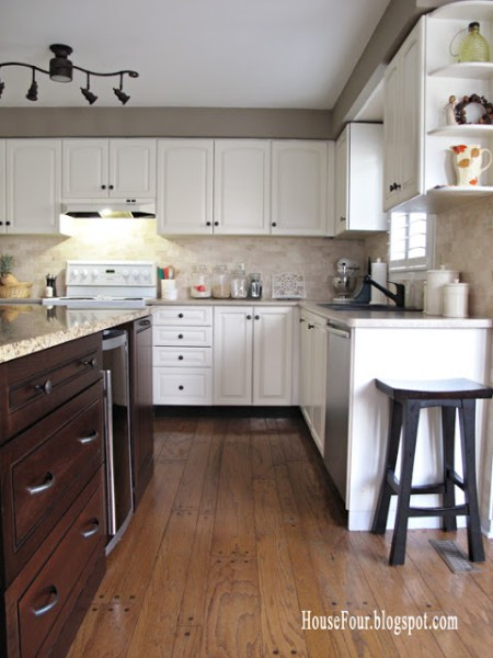 best kitchen remodel ideas -- kitchen renovation and adding a kitchen island, HouseFour on Remodelaholic