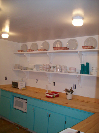 best kitchen remodel ideas -- recycled kitchen cabinets with butcher block countertops, The Domestic Fringe on Remodelaholic