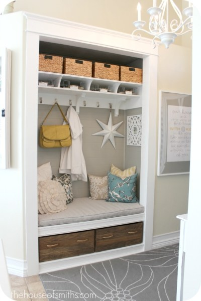 closet to entry mudroom, House of Smiths