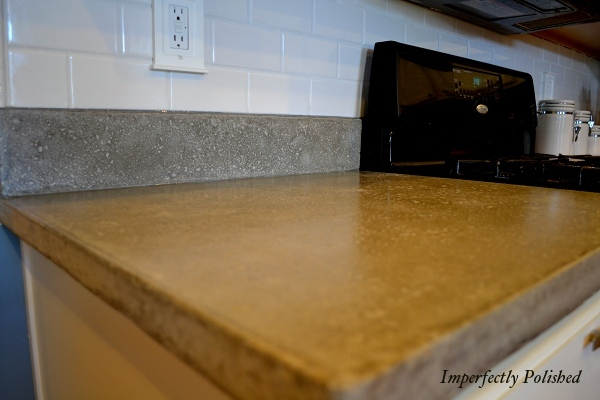 concrete countertops, Imperfectly Polished on Remodelaholic