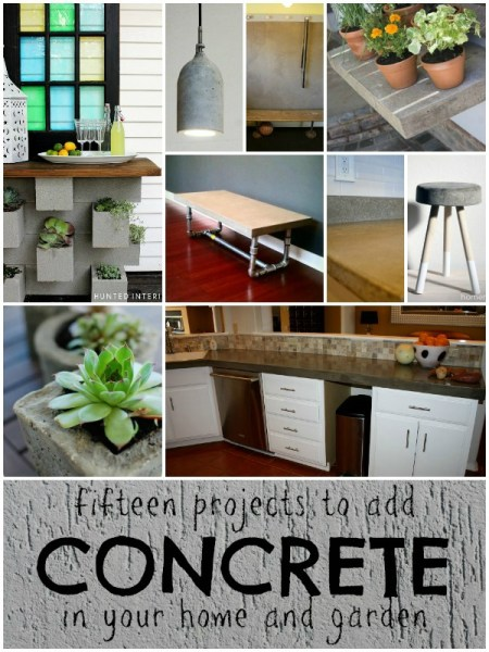 15 Creative Ideas to Use Concrete in Your Home or Garden | remodelaholic.com #concrete #industrial @Remodelaholic