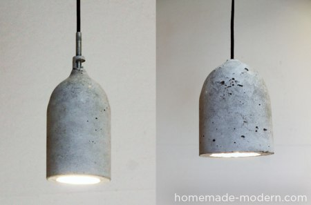 diy concrete pendant light, Homemade Modern