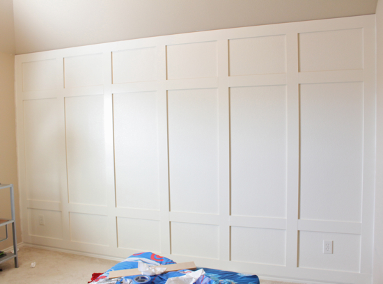 diy paneled wall, Decor Chick on Remodelaholic