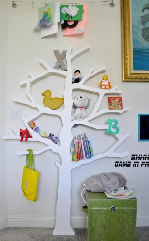 diy tree bookshelf, The Design Confidential