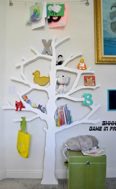 diy tree bookshelf, The Design Confidential