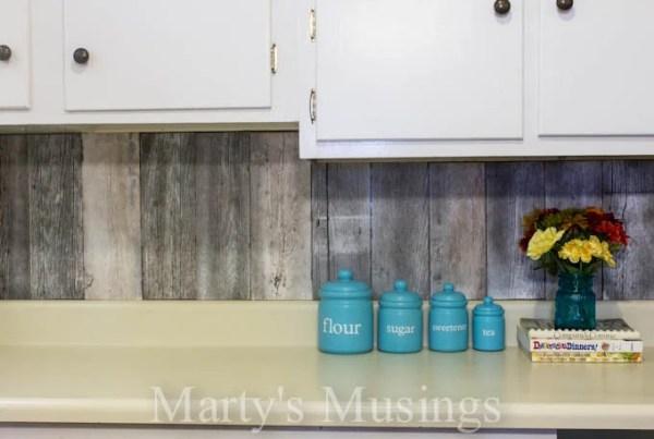 fence board reclaimed wood kitchen backsplash