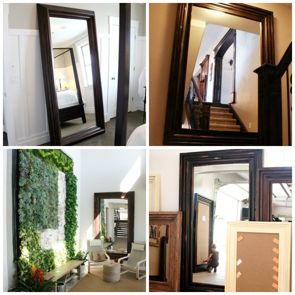 floor mirror collage