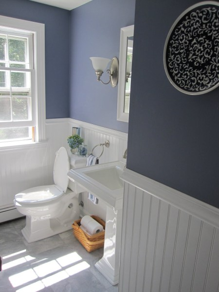 Standard Height For Wainscoting In Bathroom. Half Bath Remodel With Beadboard Wainscoting Simple Beautiful Home On Remodelaholic