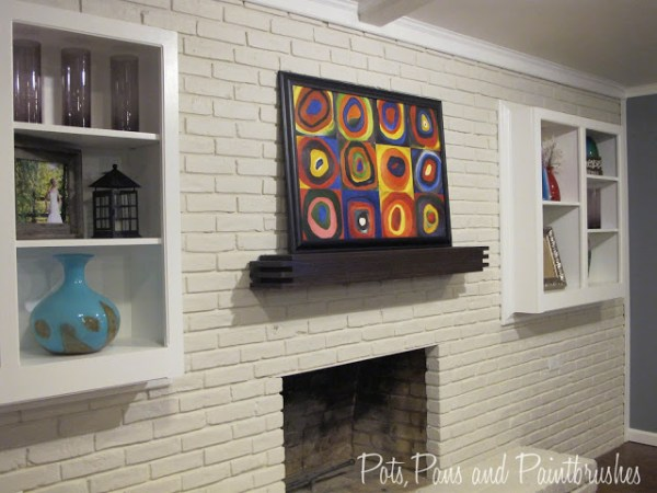 installing a floating mantel shelf