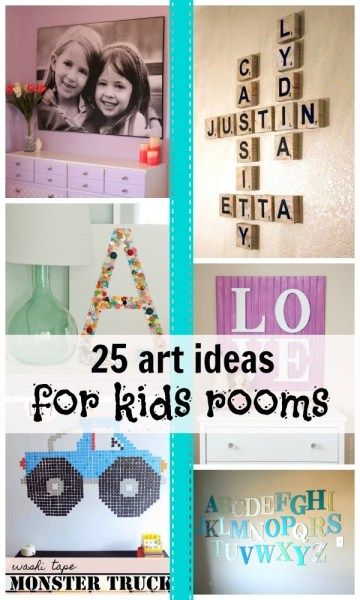ideas for kids room art