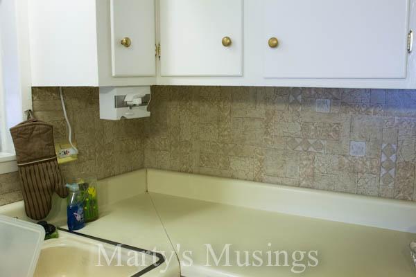 kitchen backsplash before installing reclaimed wood