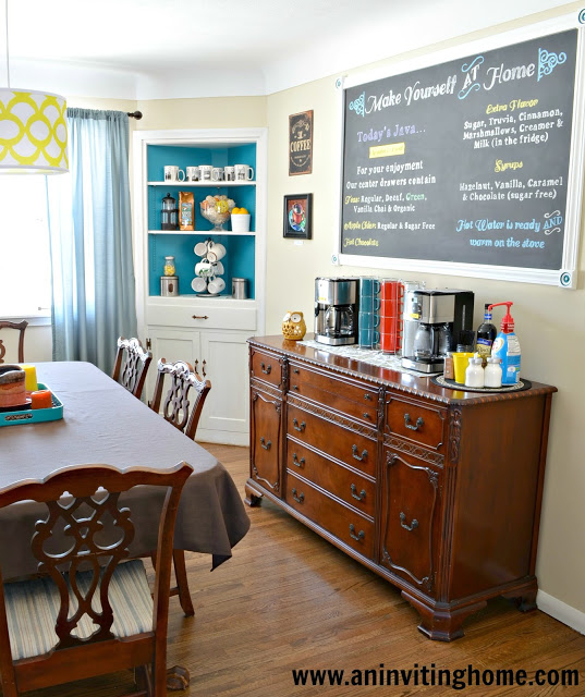 Create Your Own Self-Serve Coffee Bar | Remodelaholic