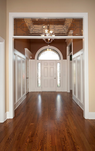 tall wainscoting in a tall entry design dump on remodelaholic - Wainscoting Design Ideas
