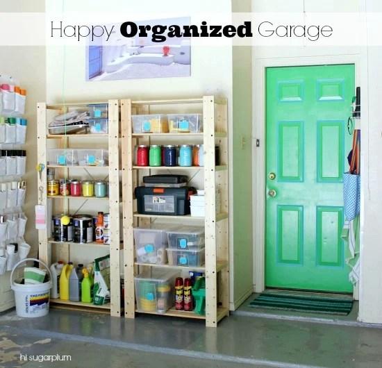 tips for garage organizing, Hi Sugarplum