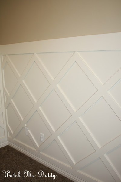 trellis wainscoting, Watch Me Daddy on Remodelaholic