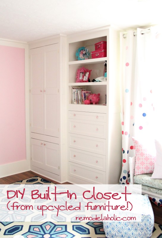1 How to build a built-in closet, built-ins from existing furniture upcycle remodelaholic
