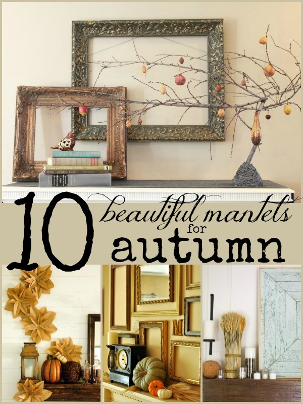 10 Beautiful Fall Mantels | Remodelaholic.com #fall #mantel #decor @Remodelaholic