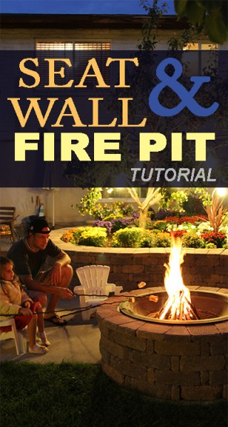 DIY seat wall and fire pit kit pinit