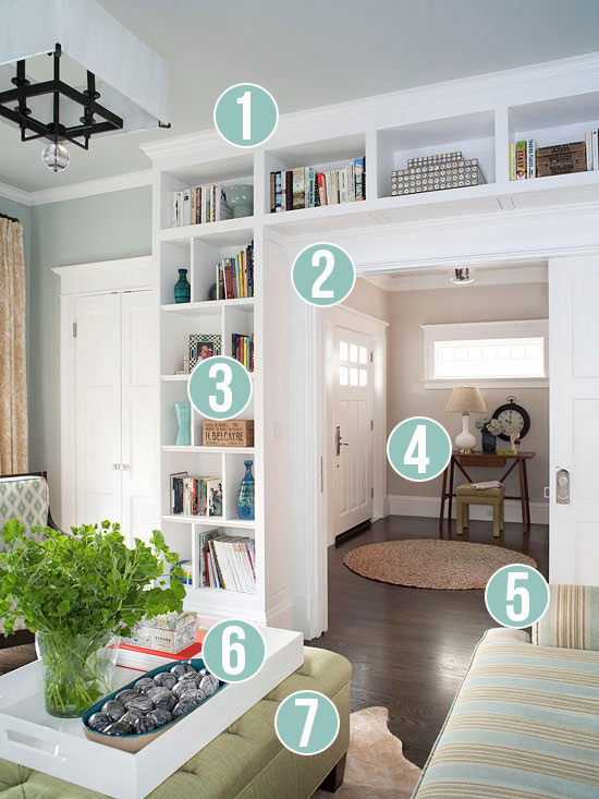Get This Look - Living Room Built-Ins - 7 Tips from Remodelaholic
