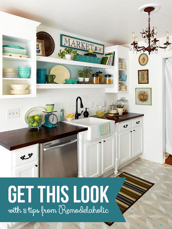 Get This Look - Luxury and Style in a Small Kitchen - Tips from Remodelaholic