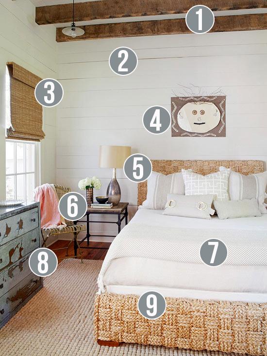Get This Look: Neutral Rustic Bedroom | 9 tips from Remodelaholic.com #getthislook #rustic #neutral #bedroom @Remodelaholic