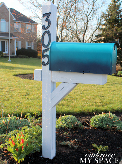 mailbox post ideas. Diy Ombre Mailbox, Embrace My Space Mailbox Post Ideas I