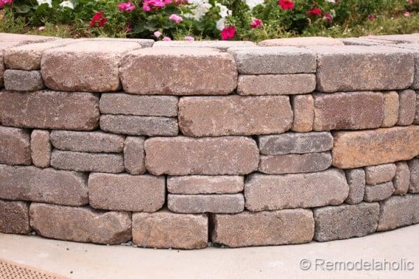 diy paver block retaining wall tutorial