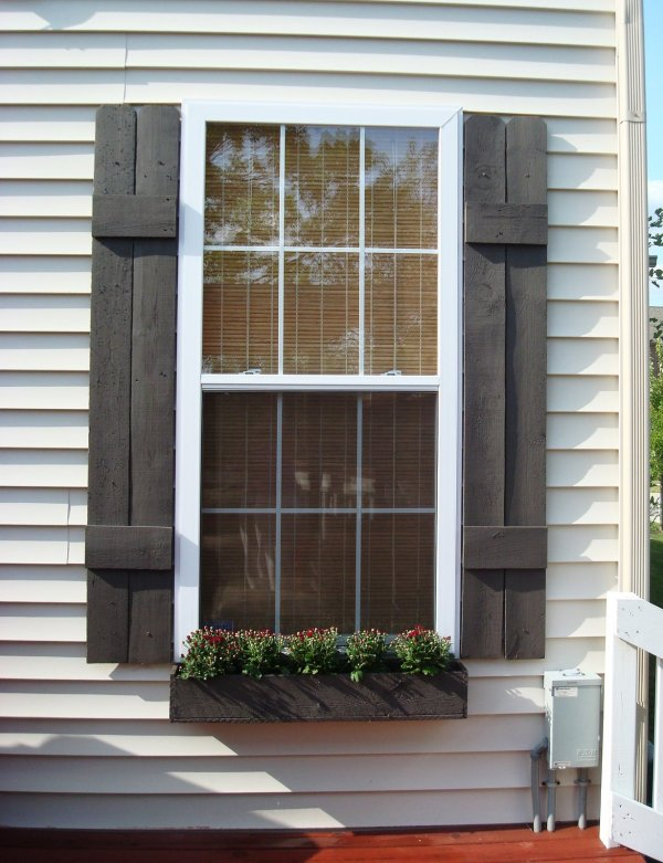 exterior shutters - how to build shutters and window boxes, Thrifty Decor Chick