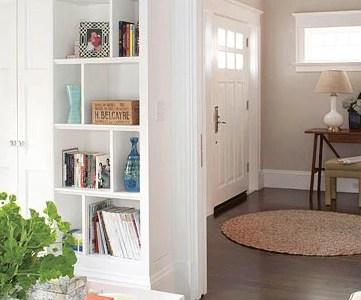 living room built-in shelves