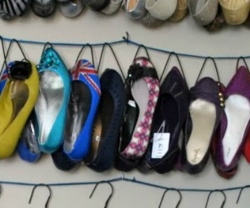 shoe storage ideas - diy shoe hangers for sandals and flats, Oh So Pretty