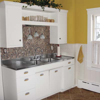 small kitchen remodel, via This Old House