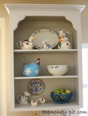 upgrade open cabinet by adding decorative molding, The Kim Six Fix