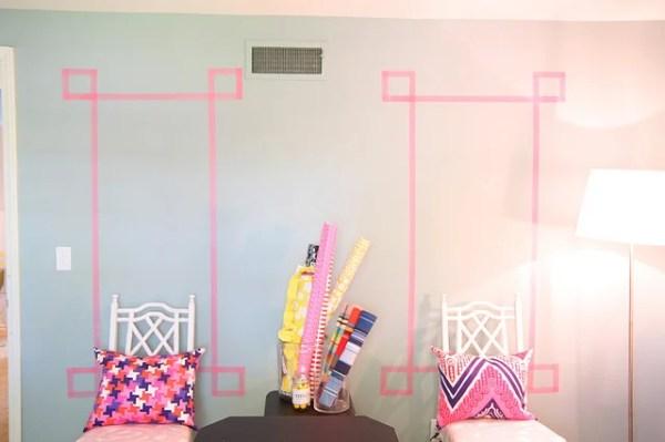 washi tape home decor - decorative wall art frame, Pencil Shavings Studio