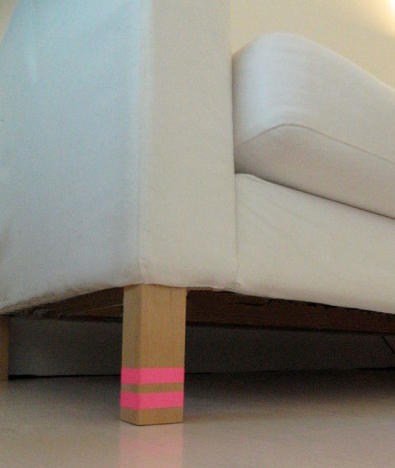 washi tape home decor - furniture legs, PoppyTalk 2