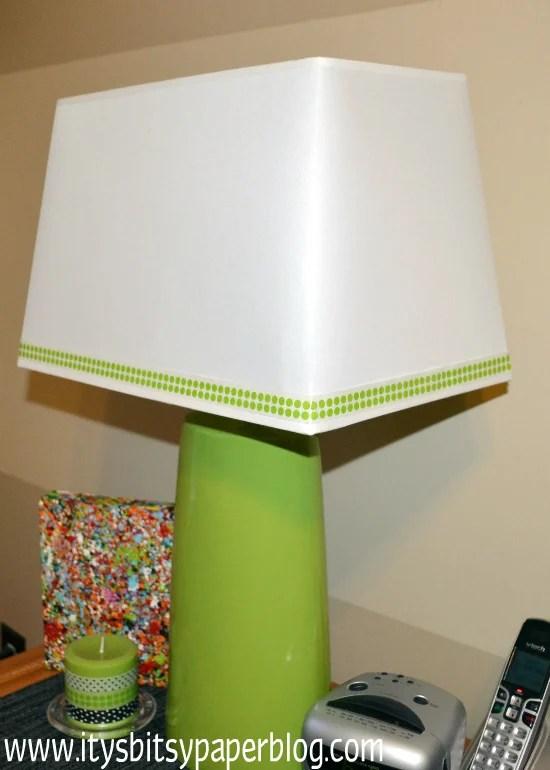 washi tape home decor - lamp shade, Itsy Bitsy Paper Blog