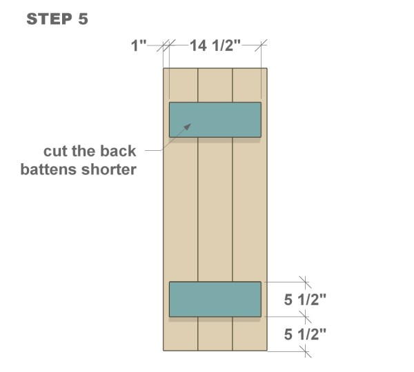 wood shutter tutorial step five
