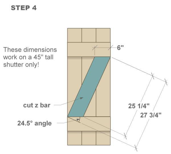 wood shutter tutorial step four